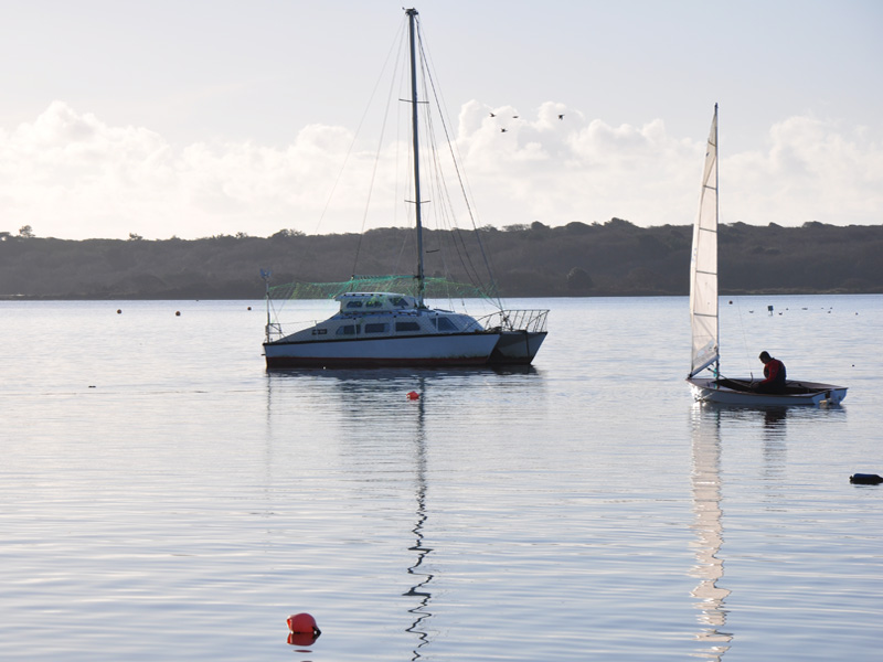 Catamarans are often moored with us